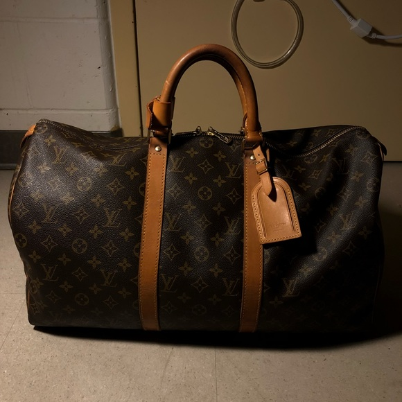 f4a401e908f5 100% AUTHENTIC Louis Vuitton Keepall 50 Boston Bag